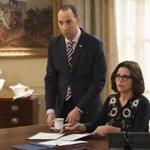 Tony Hale, left, and Julia Louis-Dreyfus in a scene from the comedy series